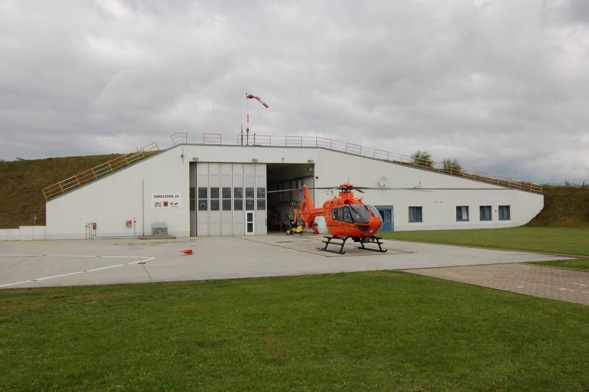 Seit November 2007 ist in Güstrow eine EC 135 T2i stationiert (Aufnahme aus dem September 2010)