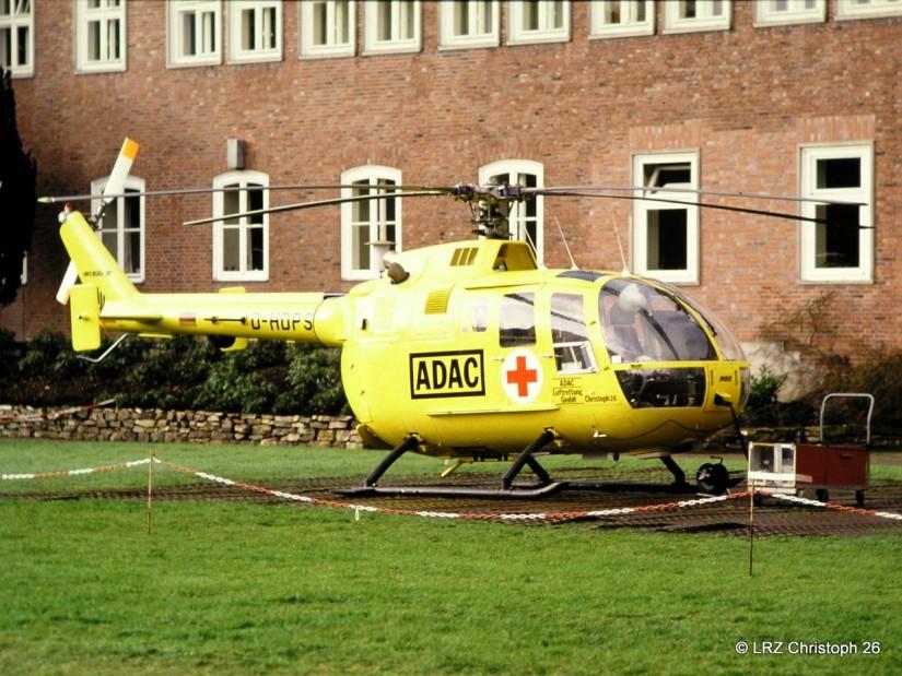 Die BO 105 kam in Sanderbusch nicht lange zum Einsatz
