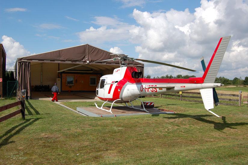 Die Ecureuil in Benutzung für Ambulanzflugdienste