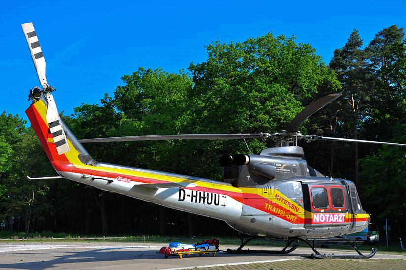 Das angestammte Metier der Bell 412 sind Interhospitaltransfers