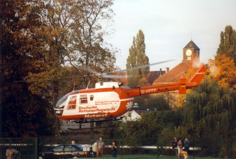 Die BO 105 flog noch bis Mai 2009 für die DRF in Zwickau - wenn auch in einem neueren Farbkleid, als hier gezeigt