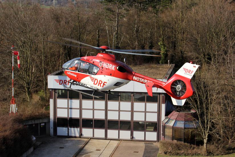 EC 135, hier ein Exemplar der DRF Luftrettung in Leonberg