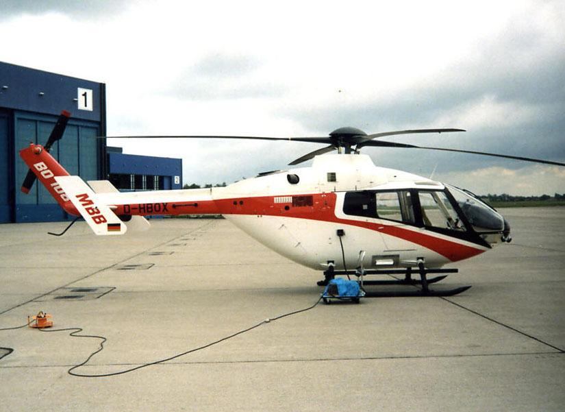 Der Prototyp BO 108 kam nie zur Serienreife, zugunsten der Version mit Fenestron-Heckrotor