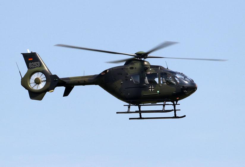 """Die Bundeswehr setzt nicht die militärische Variante EC 635 ein, sondern """"normale"""" EC 135. Diese werden zu Ausbildungszwecken verwendet."""