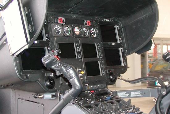 Das Cockpit im inaktiven Zustand