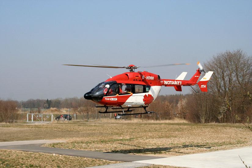 Die EC 145 mit der Kennung H-DRRR war die erste, die an die DRF Luftrettung ausgeliefert wurde