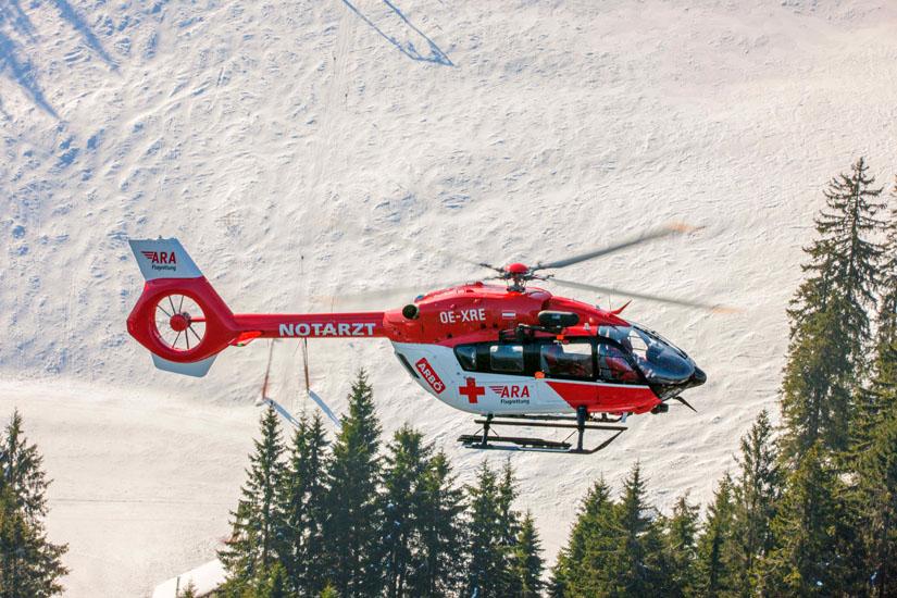 Die erste H145, die bei der ARA Flugrettung in Österreich ihren Dienst antrat