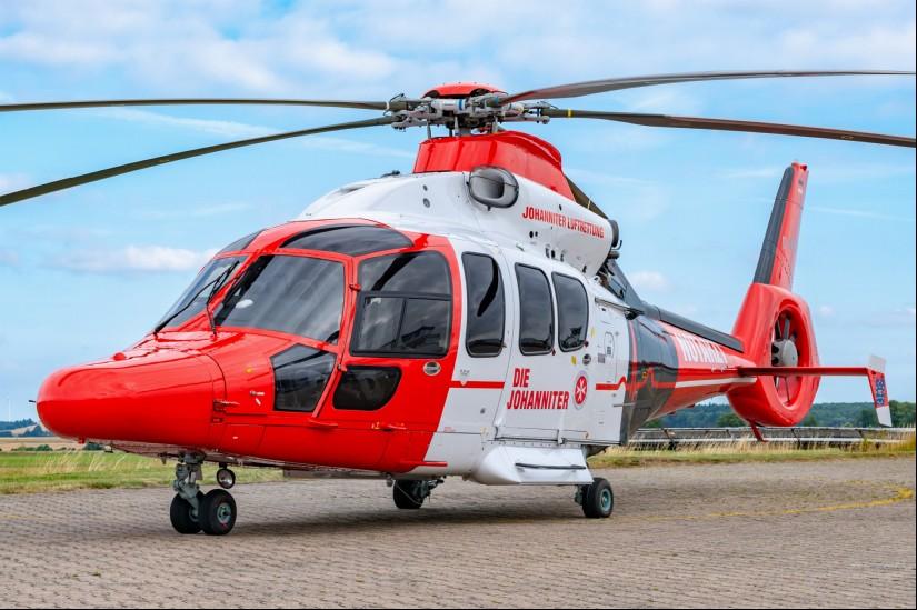 Ersetzt in den nächsten Monaten sukzessive die AS 365 N2/N3 bei der Johanniter Luftrettung: die neue EC 155 B1/H155 (hier zu sehen die allererste Maschine mit dem Kenner D-HFLG)