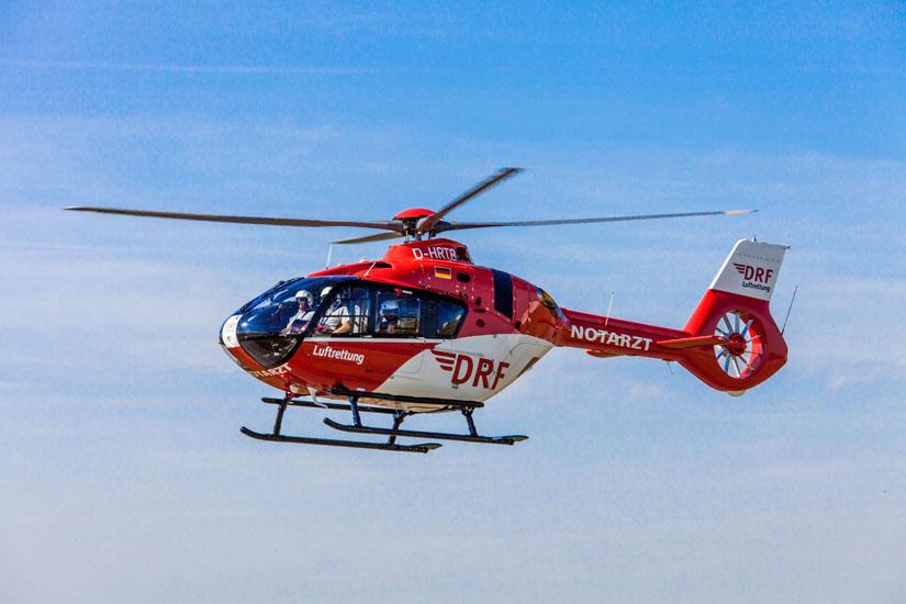 Eine H135 in Flug